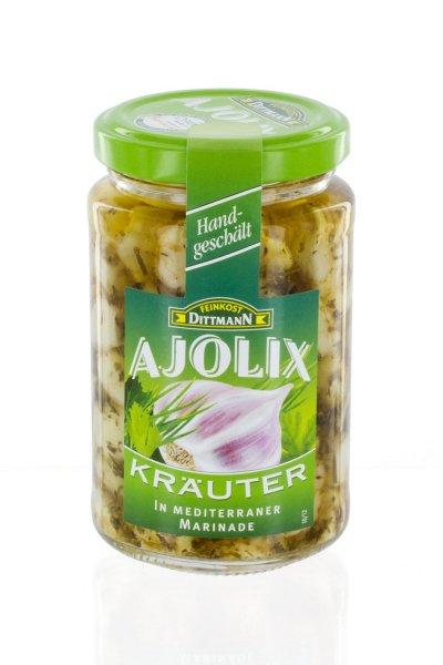 Amazon Prime : Feinkost Dittmann Ajolix Kräuter - Knoblauchzehen in mediterraner Marinade, 6er Pack (6 x 225 g) - Nur  7,47 €