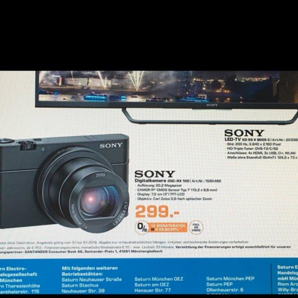 Sony dsc rx 100 - Saturn München - 33€ unter idealo