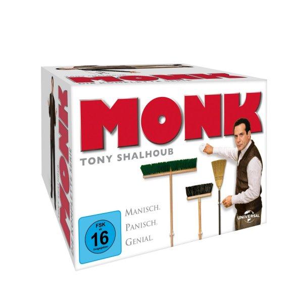 [Amazon] Monk Komplettbox (32 DVDs) für 34,97€ inkl. Versand