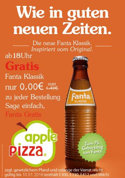 (Lokal Mannheim) GRATIS Fanta Klassik bei applePizza (Pizza Lieferdienst)
