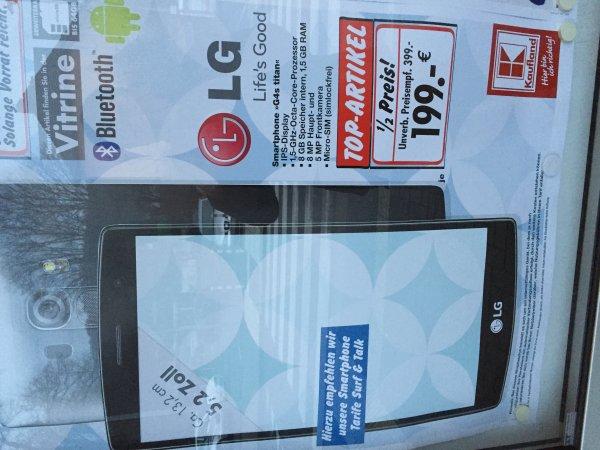 Kaufland Siegen (Lokal?) LG G4s titan 199€ ab 11.01.