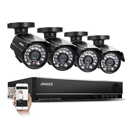 [Amazon] ANNKE Überwachungssystem CCTV Videoüberwachung 4CH 720P DVR Recorder ohne Festplatte mit 4 Bullet Überwachungskameras 700 TVL wetterfest Nachtsicht 20-30 Meter für innen und außen Überwachung