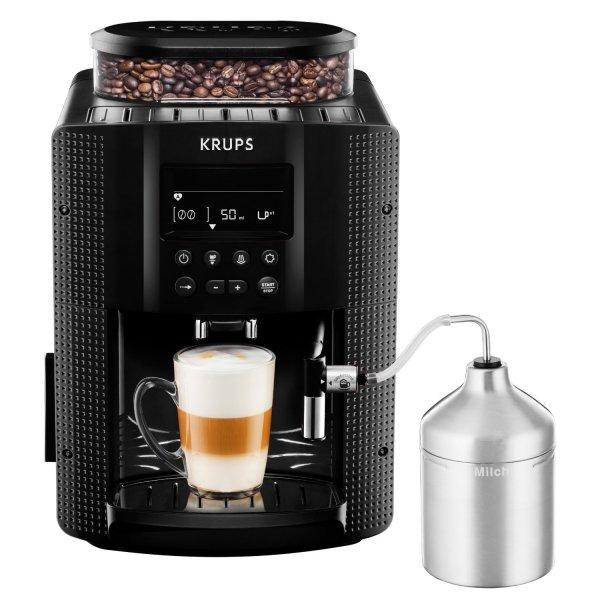 [Saturn] KRUPS EA8160 Espresso-Kaffee-Vollautomat / 1,8 Liter / Schwarz, Kaffeevollautomat, 1.8 Liter/Jahr Wassertank, 15 bar, Metall-Kegelmahlwerk, Schwarz