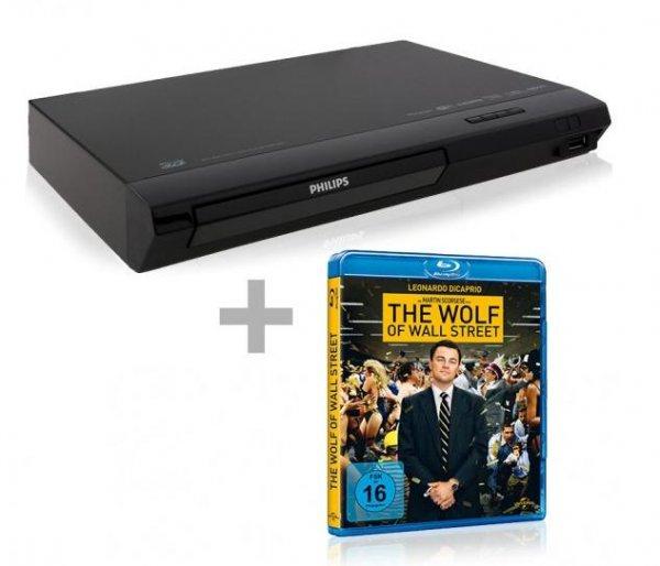Philips BDP2385 - 3D Blu-ray Player + The Wolf of Wall Street (Blu-ray) für 77€ bei Comtech.de