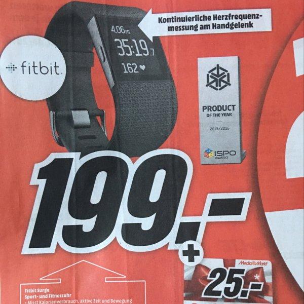 [Mediamarkt] Fitbit Surge für effektiv 174€ durch 25€ Gutscheinkarte