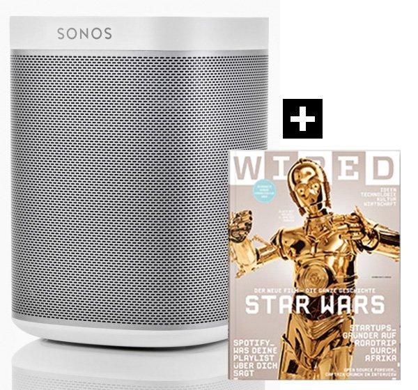 Sonos Play:1 weiß + Jahresabo WIRED Magazin für ingesamt 197,00€