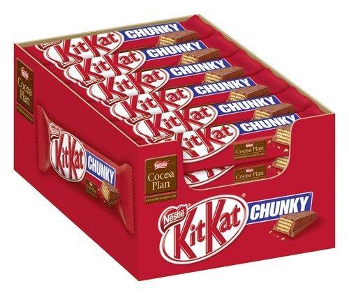 [Amazon Prime] KitKat Chunky, 24er Pack (24 x 48 g) für 7,25€