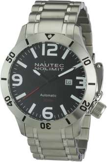 Nautec No Limit Herren-Armbanduhr Analog Automatik Canteen Diver @Amazon