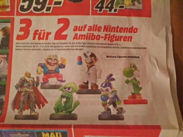 [Mediamarkt] Amiibo 3 für 2! (macht 9,33€  pro Stück)