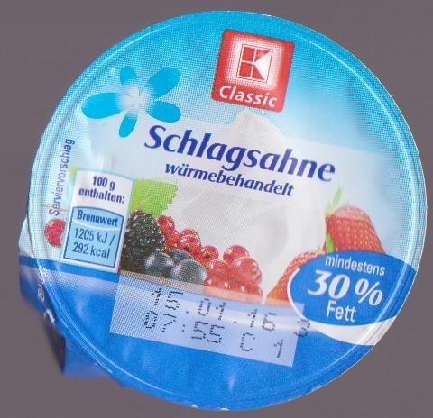 [Kaufland Aschaffenburg] 200ml frische Schlagsahne (MHD 15.01.) für 5 statt 40 Cent