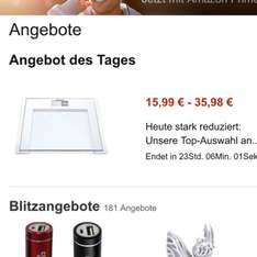 Personenwaagen - Amazon Tagesangebot ab 15,99 mit Amazon PRIME