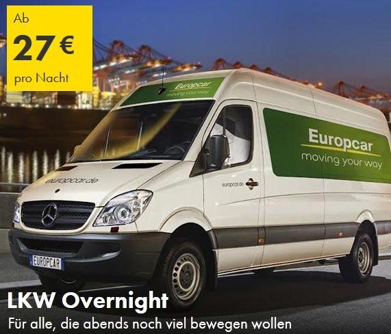 [Europcar] LKW über Nacht 17:00-7:30 Uhr ab 11€ (inkl. 150km)