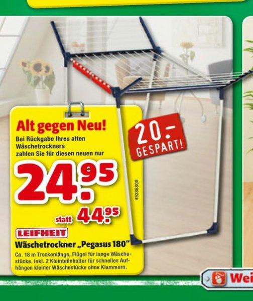 24.95€ Alt gegen Neu Leifheit Wäschetrockner Ständer Pegasus 180 Lokal?