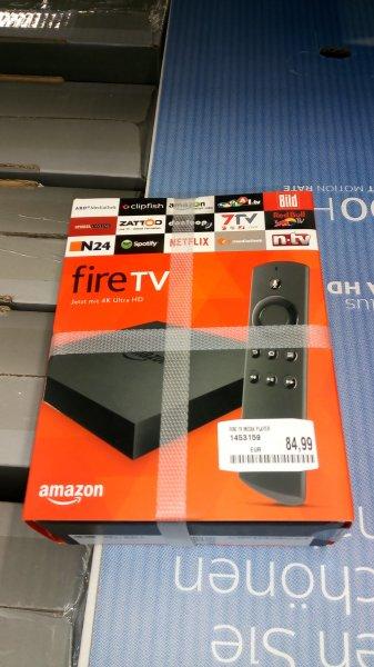 Der neue Amazon Fire TV mit 4K Ultra HD (inkl. Sprachfernbedienung) für 84,99€ @ Saturn AT nur im Geschäft