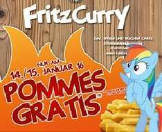 Fritz Curry: Kostenlose Portion Belgische Pommes incl. Mayo / Ketchup (LOKAL: Cottbus / 14. & 15. Januar)