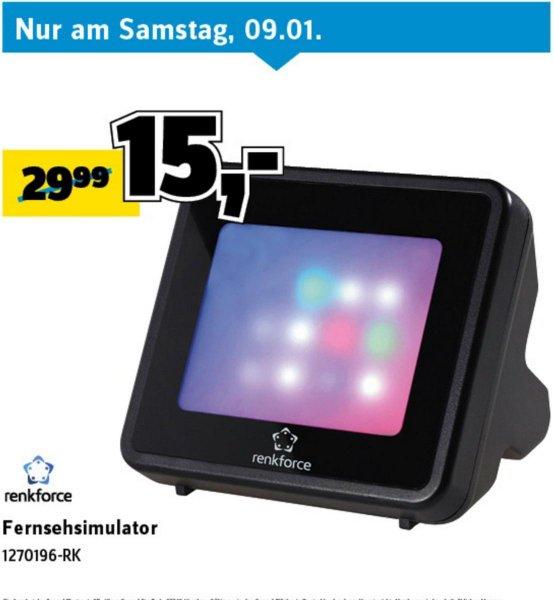 [Conrad bundesweit] Fernsehsimulator renkforce TV02 für 15€, PVG: 24,99€