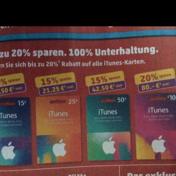 Apple iTunes bei Penny (Bundesweit) bis zu 20%