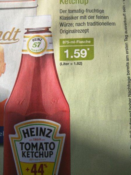 Aldi Nord - Heinz Tomaten Ketchup 875ml