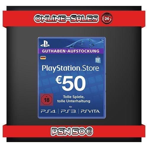 eBay - 50 Euro PSN Guthaben