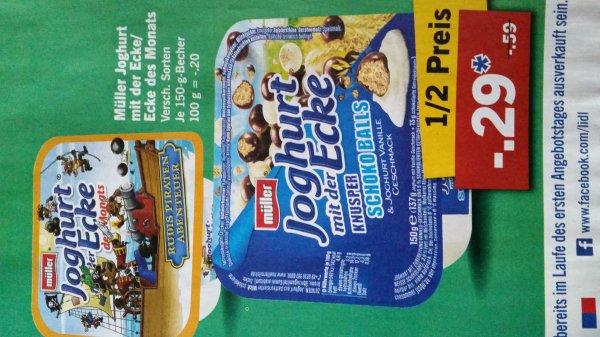 Joghurt mit der Ecke, versch. Sorten, 50% günstiger, bei Lidl, Penny & Globus