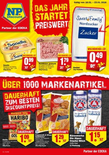 1 KG Zucker für 0,49€ bei NP Discounter