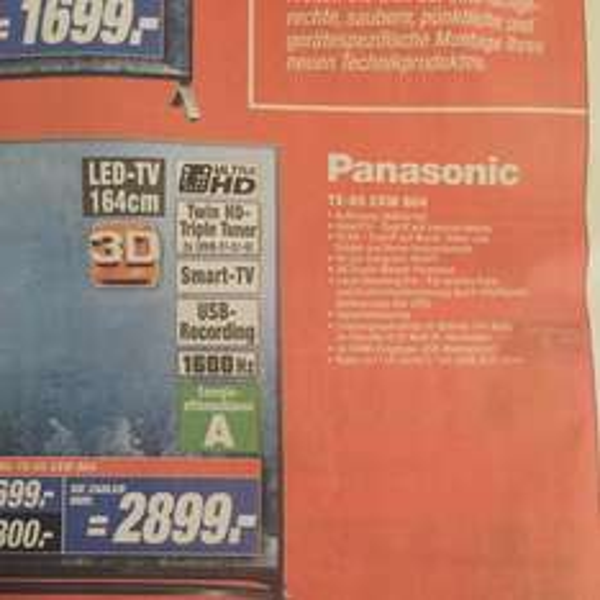 Lokal Expert Halle/ Bruckdorf Panasonic TX-65 CXW 804 Expert
