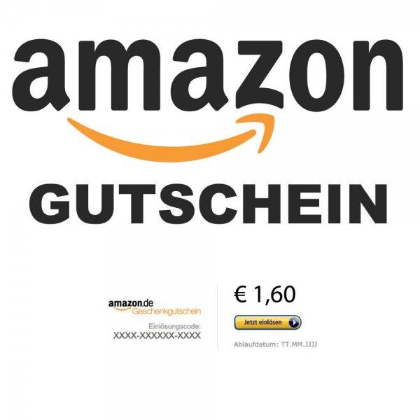 1,60 € Amazon Gutschein Code für 1,44 €