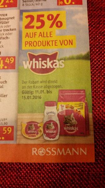 Rossmann 3 Tüten Whiskas Katzenfutter - 85/100g  -0,01€