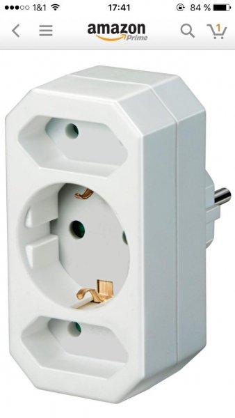(Amazon Prime) steckdosenadapter Brennenstuhl Adapterstecker Euro 2 + Schutzkontakt 1 weiß für 4,88€ inkl. Versand