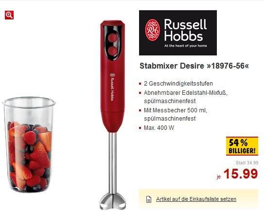 [OFFLINE/KAUFLAND] Russell Hobbs Stabmixer Desire 18976-56 für 15,99€