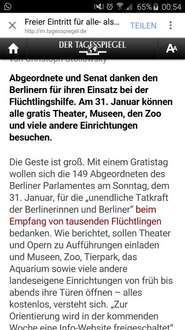 Kostenlos in Museen, Theater, Zoo etc. am 31.01.2016 (Berlin)