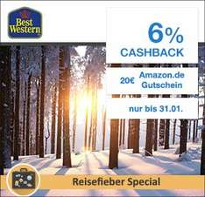 Qipu/ Best Western: 6% Cashback + 20€ Amazon.de Gutschein
