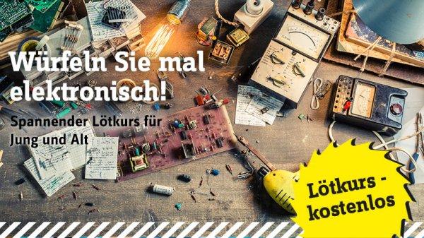 """Conrad Grundlagenworkshop Weichlöten """"Spannender Lötkurs für Jung und Alt"""""""