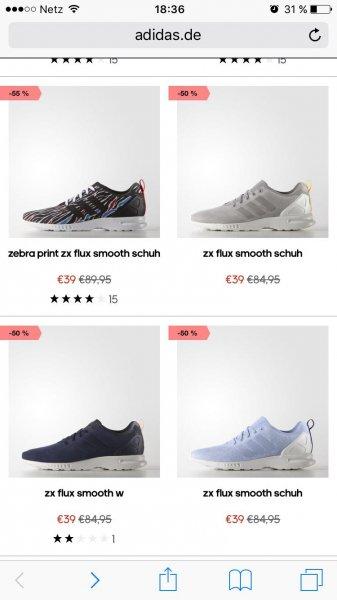 [adidas.de] Adidas ZX Flux Smooth für nur 39,00€ (mit Versand 43,95€) statt 84,95€!!