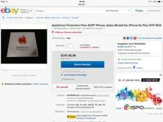 AppleCare Protection Plan ACPP iPhone Jedes Modell bis iPhone 6s Plus OVP BOX
