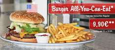 Burger - All You Can Eat, für nur 9,90 € bei Miss Pepper am 11.+12. Januar