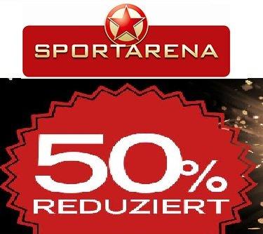 [Sportarena] 50 % Sale auf viele Artikel + 5 € Gutschein ab 14,95 €