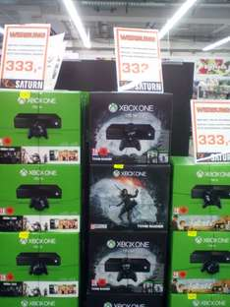 (Saturn Markt Berlin Spandau) Xbox One 1TB Tomb Raider, Rainbow Six oder  Fallout 4 Bundle 333€