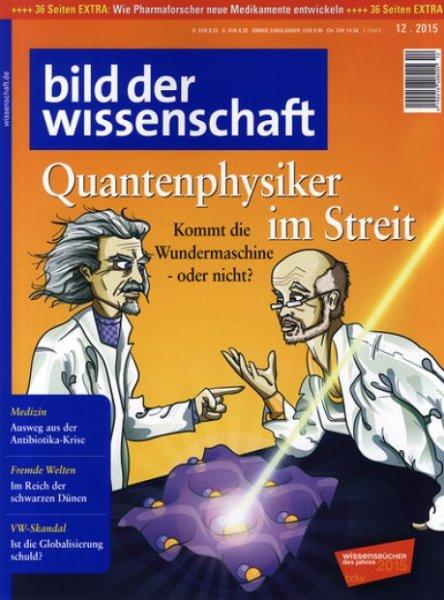 [ Printausgabe ] Bild der Wissenschaft mit Gutschein statt 98,40€ nur 3,40€ (12 Monats-ABO)