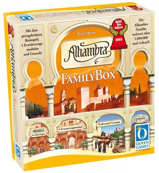 Alhambra - FamilyBox (Grundspiel + Erweiterungen + Granada, Brettspiel, Gesellschaftsspiel, Amazon.de)