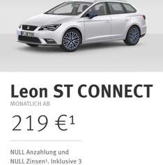 [leasing] Seat Leon At Connect 219€mtl, 0€ Anzahlung, 3 Jahre Inspektion inkl.