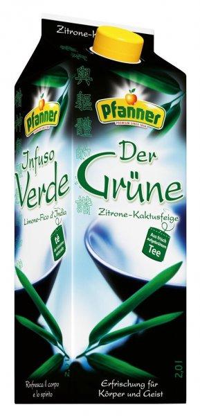 [Amazon Plus Produkt] Pfanner Der Grüne Zitrone-Kaktusfeige, 6er Pack (6 x 2 l) für 5,94€