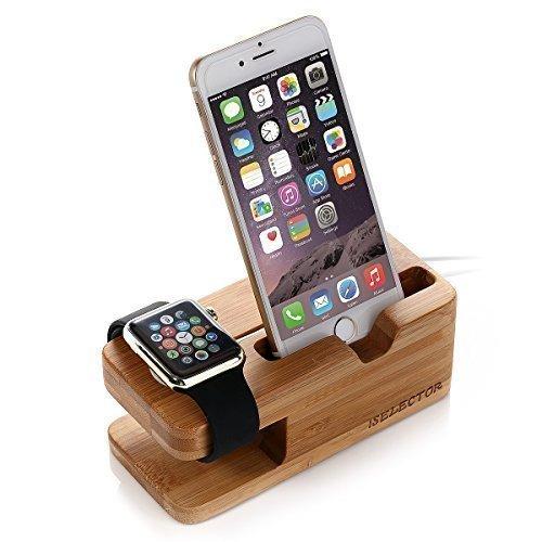 [Amazon Prime] Apple Watch Stand Holz (Bambus) Ladestation Halterung Ständer für Apple Watch and iPhone 6s 6 Plus / 5 und weitere Handys für 3,64€