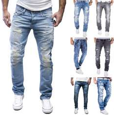 MERISH Jeanshose Herren Destroyed 12 Modelle Slim Straight Fit Jeans Hose @ebay.de 24,90