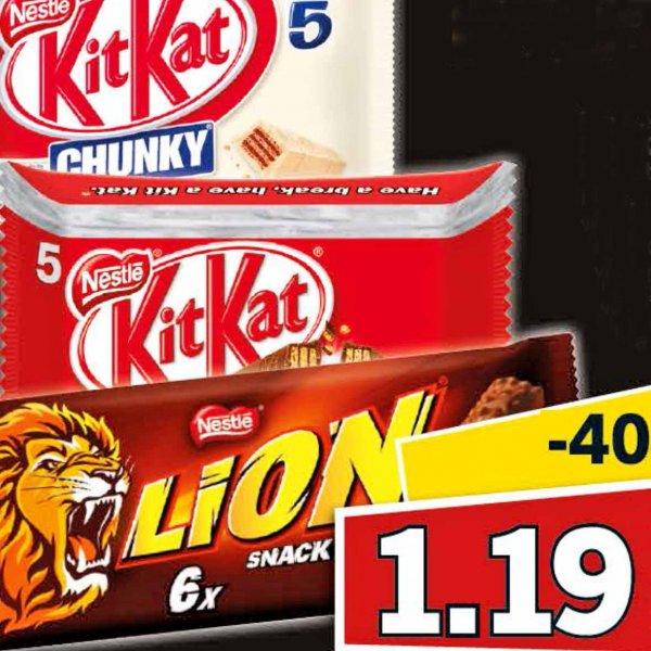[Lidl] Lion, KitKat oder Kitkat Chunky am Samstag 23.1. für 1,19 €