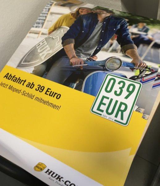 Moped-/Rollerkennzeichen ab 39 € per 1.3.2016 - HUK-COBURG