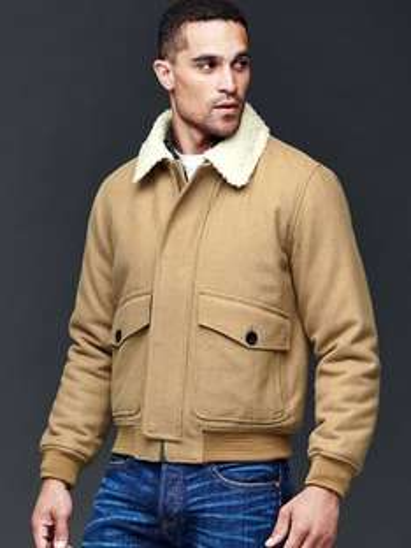 Winter Sale bei Gap bis zu 60% Fliegerjacke aus Wolle für 69,99