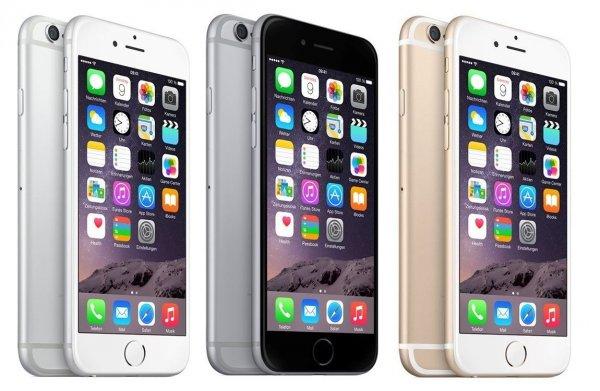 Apple iPhone 6 - 64GB (Ohne Simlock) Silber/Grau/Gold @ebay.de 599€