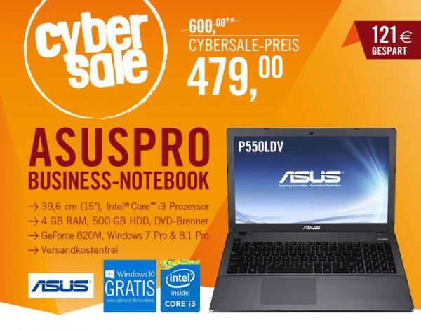 [Cyberport] Asus Pro P550LDV i3 / 500GB / 4GB RAM statt 548,81€ für 479€