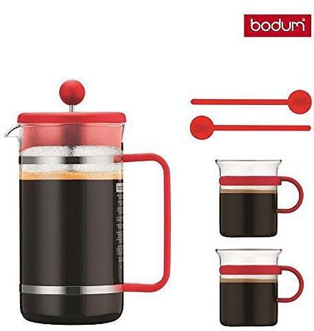 Bodum Bistro Kaffeebereiter + 2 Glastassen + 2 Löffel für 14,94€ bei Voelkner